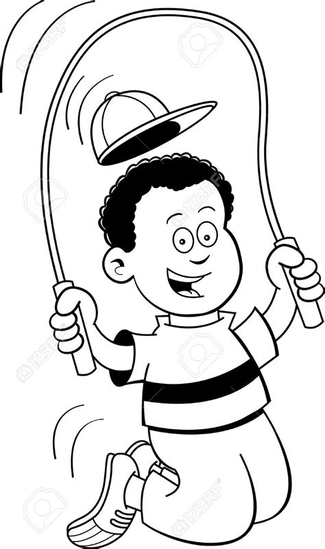 jump rope clipart black and white boy clipart jumping rope pencil and in color boy clipart