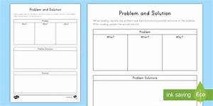 Problem And Solution Graphic Organizer  Teacher Made