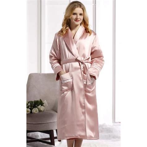 robe de chambre soie femme robe de chambre luxe femme soie matelassée achat vente