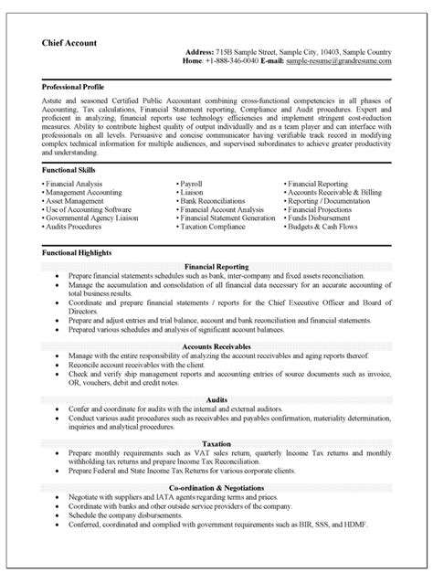Accountant Resume Sample Accountant Resume Sample That