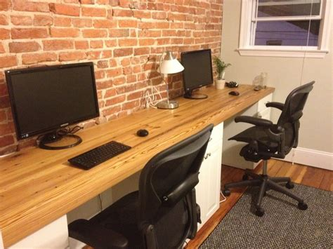 long wooden computer desk pin by marie laferriere on house pinterest