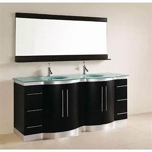 Meuble Salle De Bain 150 : meuble de salle de bain arizona 150 cm noir achat vente salle de bain complete meuble de sdb ~ Teatrodelosmanantiales.com Idées de Décoration