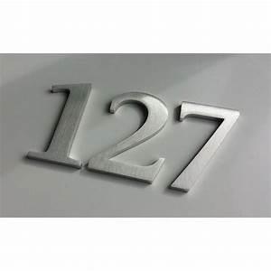 Numéro Maison Design : design stone serif chiffre inox bross 11cm ep8mm ~ Premium-room.com Idées de Décoration
