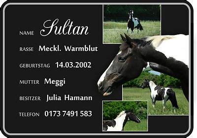 stallschild boxenschild pferd mit eigenem foto