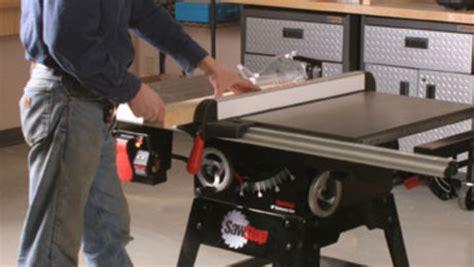 tool review sawstop contractors  finewoodworking