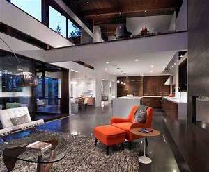 Open Concept Living, Dining, Kitchen, Loft Area - Modern