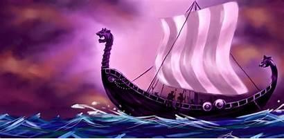 Viking Ship Longship Asgardian Wallpapers Ships Fantasy