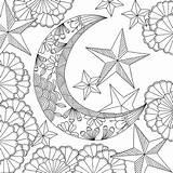 Coloring Adult Follow Space Dreams Moon Sun Adults Mandala Artists Mandalas Printable Stress Relieving Press Colorear Dibujos Libros Getdrawings Ausmalen sketch template