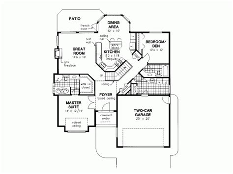Delightful One Level House Plans by Eplans Mediterranean House Plan Cost Effecient One Story