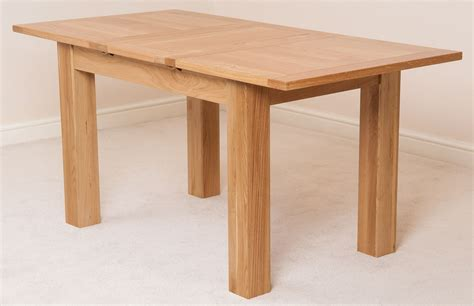 Extended Dining Room Tables by Hton Solid Oak Wood Medium 120cm Extending Table Wooden