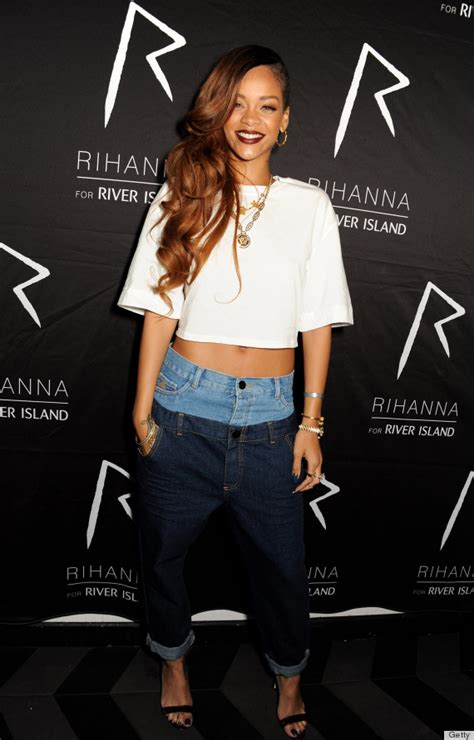 rihannas jeans   confusing optical illusion