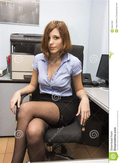 le de bureau retro secrétaire image stock image 36947581