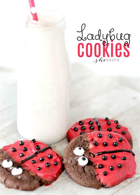 easy  adorable ladybug cookies shesaved