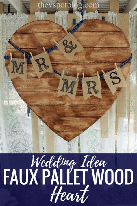 faux pallet wood project diy wedding decor  pallet