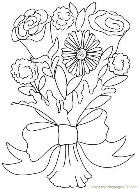 Coloring Clip by Wedding Bouquet Coloring Pages Coloring Home