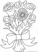 Coloring Bouquet Flower Rose Flowers Carnation Clipart Printable Valentine Roses Daisy Colouring Clip Others Adults Doodle Colour Sheets Bouquets Drawing sketch template