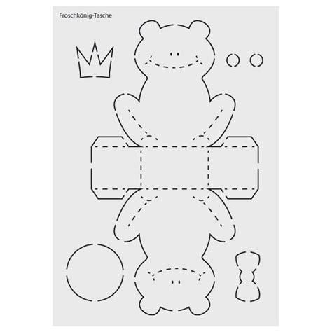 Verpackungsideen Schablone Schneemann by Design Schablone Nr 8 Quot Froschk 246 Nig Tasche Quot Din A4