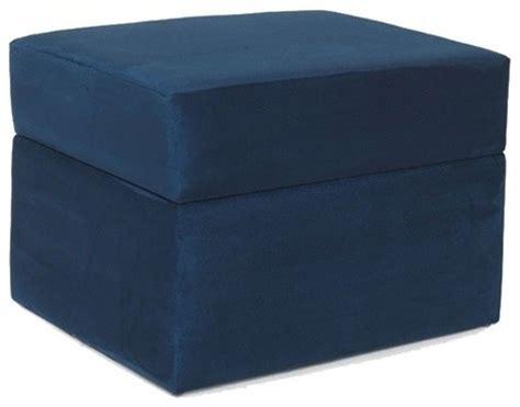 navy blue storage ottoman devon storage ottoman in navy blue modern footstools