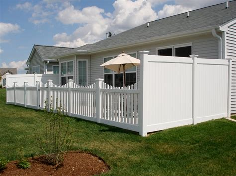 height for fence multi height vinyl fence cardinal fence supply inc