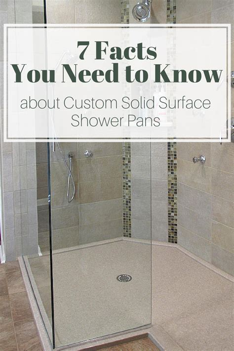 Putting In A Shower Pan by Custom Solid Surface Shower Pan Design Ideas Facts