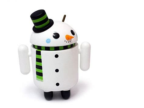 snowman google android mini figure special edition gadgetsin