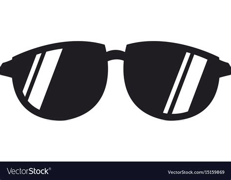 Cool Black Cartoon Sunglasses Eye Frames Vector Image