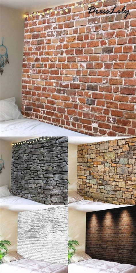 unique wall covering ideas faux brick decor cheap