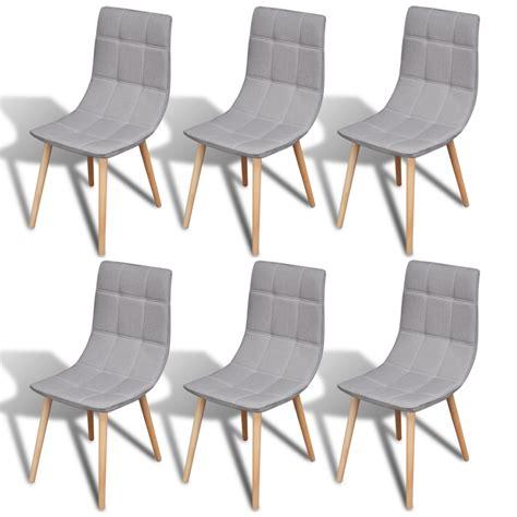 chaise gris la boutique en ligne 6 pcs chaise de salle à manger gris