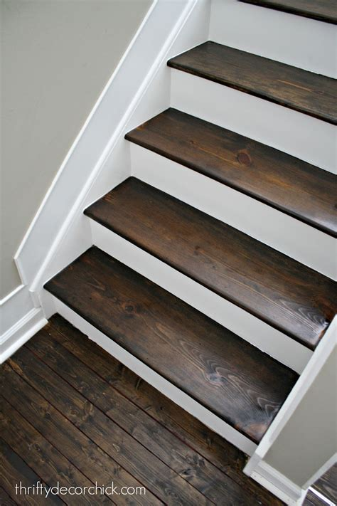 Wood And White Stair Makeover From Thrifty Decor Chick