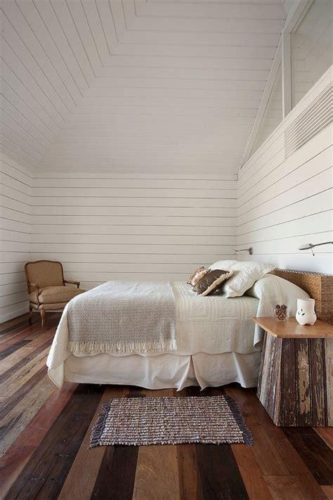 rustic bedroom  white wood walls homedesignboard