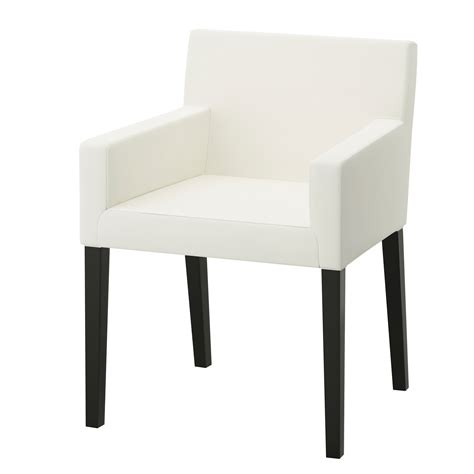 nils chair with armrests black blekinge white ikea