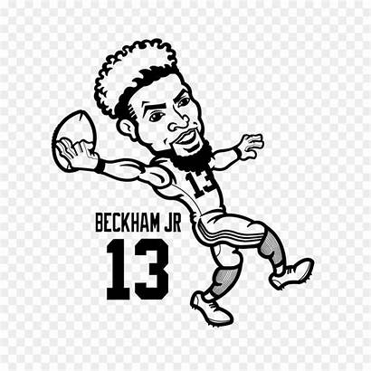 Odell Beckham Jr Coloring Cartoon Drawing Clipart