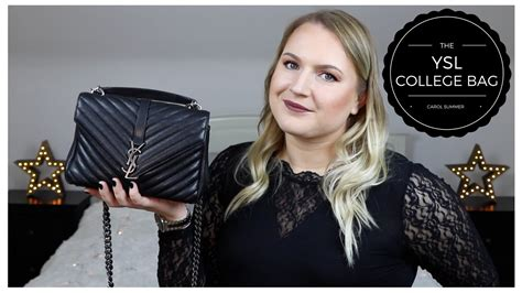 ysl college bag review wear tear youtube