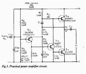 80 Watt Amplifier Circuit Diagram