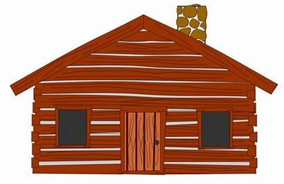 Cabin Log Clip Clipart Cartoon Cliparts Woods