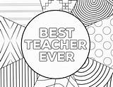 Teacher Coloring Ever Appreciation Printable Cards Thank Sheets Paper Printables Birthday Grade Colouring Template Number Sheet Multiplication Trail Test Colour sketch template