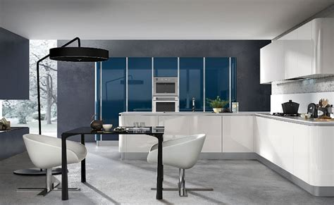 cuisine bleu petrole cuisine blanche design le des cuisines