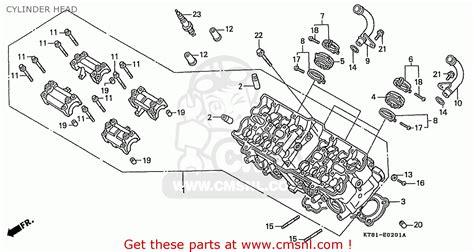 honda cbr400rr 1989 k domestic nc23 109 cylinder head buy cylinder head spares online