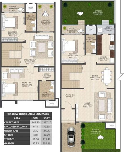 Home plans & blueprints is the best place when you want about pictures for your need, we found these are newest photos. 1537 sq ft 3 BHK Floor Plan Image - Mahindra Lifespaces Developers Bloomdale Row House 6 ...