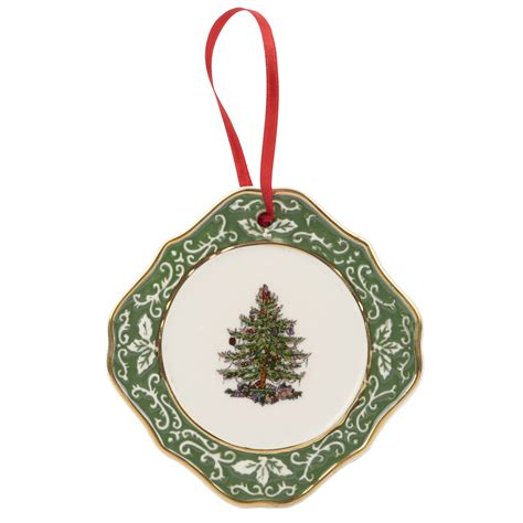 spode christmas tree gold embossed tree ornament 19 99