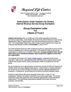sle irs nonprofit determination letter docoments ojazlink