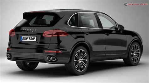 It also comes with standard led headlights equipped with porsche's dynamic. Porsche Cayenne Turbo S 2016 3D Model MAX OBJ 3DS FBX C4D ...