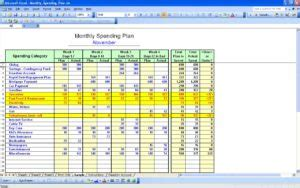 create  budget spreadsheet  excel  laobing