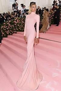 Hailey Bieber Blushing Pink Backless Dress Met Gala 2019