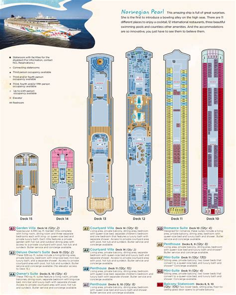 Ncl Pearl Deck Plans by Ncl Cruises Pearl Cruiseship Ncl Cruises