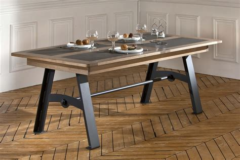 table pieds metal avec allonge detrem