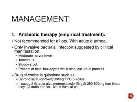 Acute Diarrhea In (inflammatory, Non-inflammatory, Food