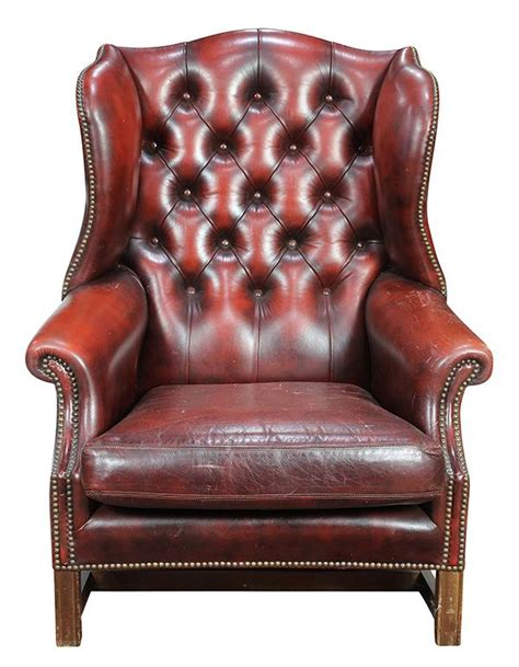 chesterfield style wing back chair