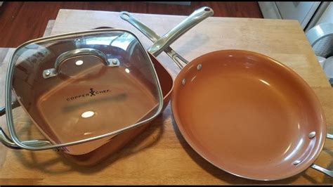 red copper copper chef pan review update  months  youtube