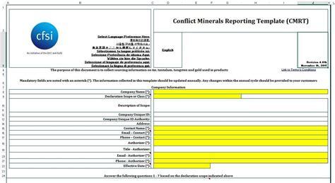 Eicc Conflict Minerals Template - Costumepartyrun
